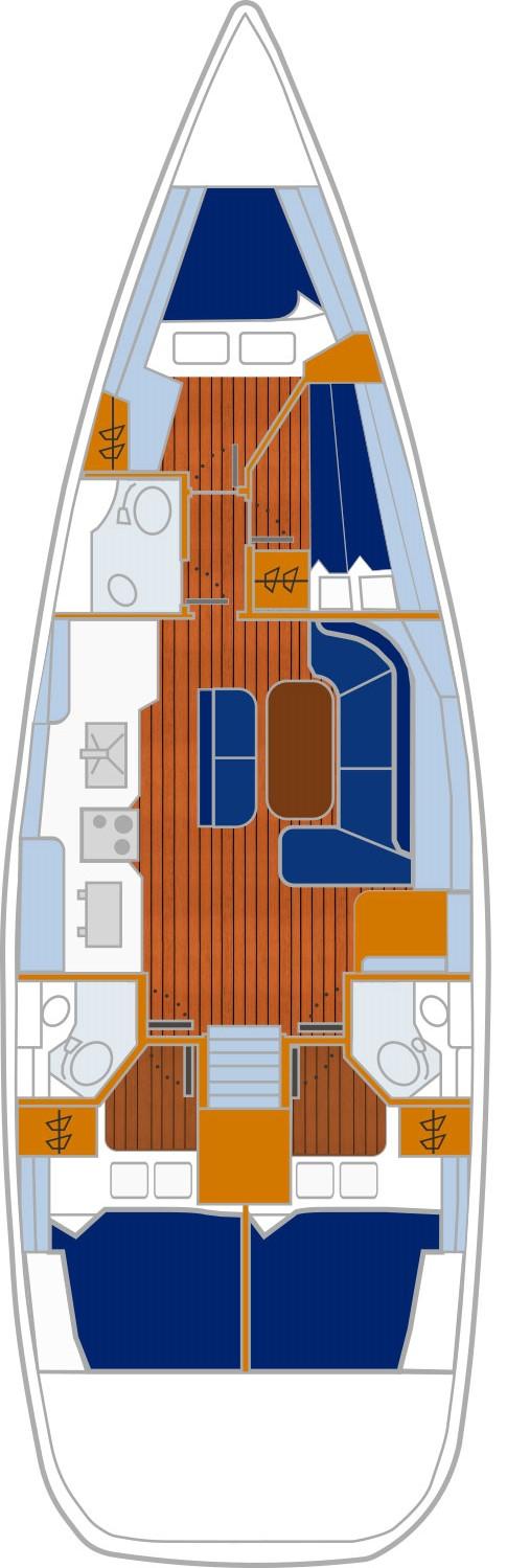 Grundriss X-Yacht